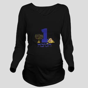 First Hanukkah Long Sleeve Maternity T-Shirt