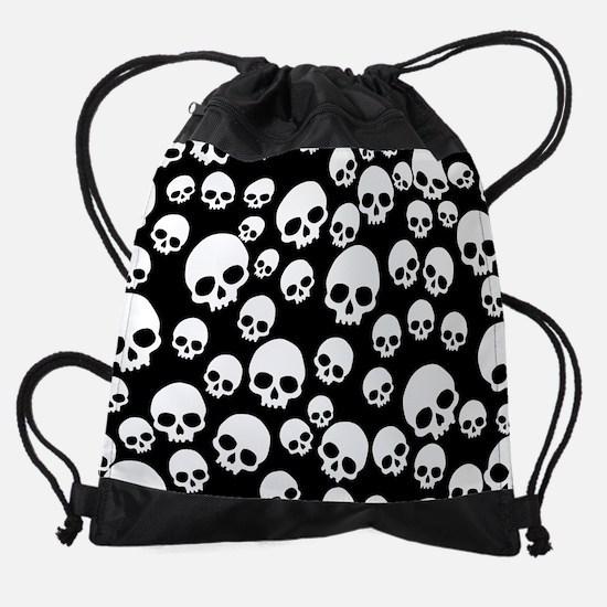 Random Skull Pattern Drawstring Bag