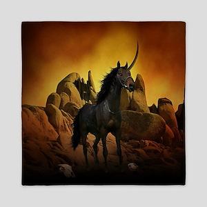 Unicorn - The Dark One Queen Duvet