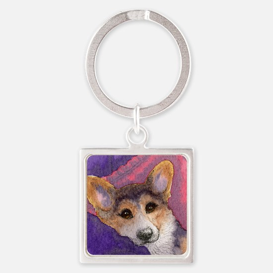 whenever you can - breathe deeply  Square Keychain