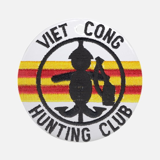 Viet Cong Hunting Club Ornament (Round)