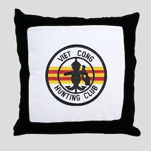 Viet Cong Hunting Club Throw Pillow