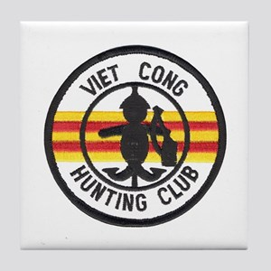 Viet Cong Hunting Club Tile Coaster