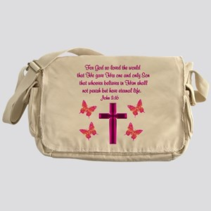 JOHN 3:16 Messenger Bag