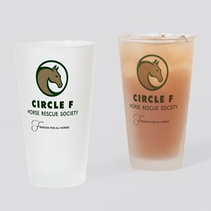 Circle F logo and tagline Drinking Glass