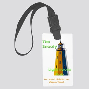 Snooty Lighthouse: lighten up Large Luggage Tag
