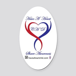 Have A Heart Oval Car Magnet