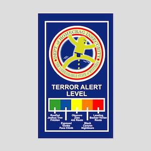 Terroe Alert Sticker (Rectangle)