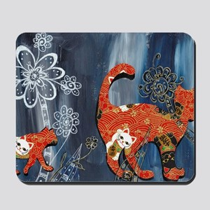 Lucky Red Cats Mousepad