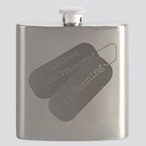 I survived basic training fort Benning Flask