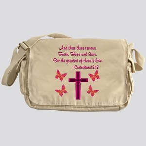 1 CORINTHIANS 13:13 Messenger Bag