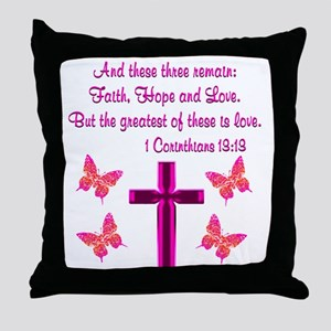 1 CORINTHIANS 13:13 Throw Pillow