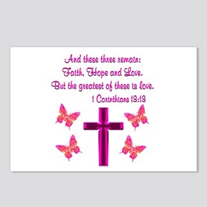 1 CORINTHIANS 13:13 Postcards (Package of 8)