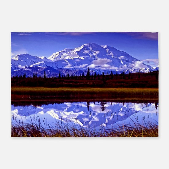 Mt. McKinley in Fall 5'x7'Area Rug