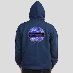 Mt. Mckinley In Fall Zip Hoodie (Dark)