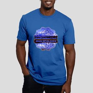 Mt. Mckinley In Fall Men's Fitted T-Shirt (Dark)