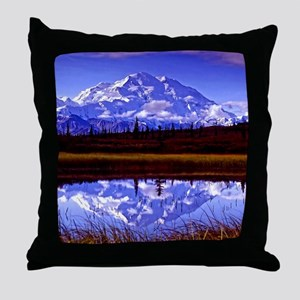 Mt. McKinley in Fall Throw Pillow