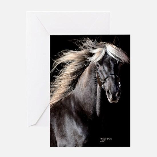 choco_horse_panel Greeting Card