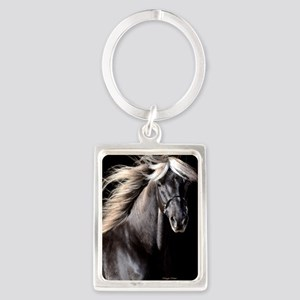 choco_horse_panel Portrait Keychain