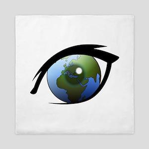 Eye on the World Queen Duvet