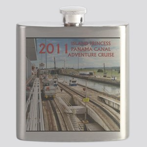 Panama Canal - rect. photo- black edge Flask
