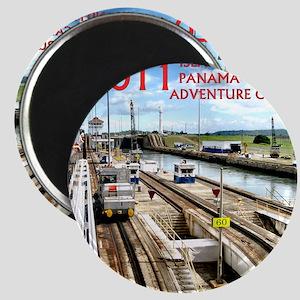 Panama Canal - rect. photo- black edge Magnet
