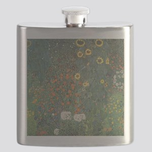 Country Garden with Sunflowers Flask