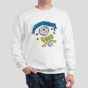 Baby Shower Blue Ribbon Sweatshirt