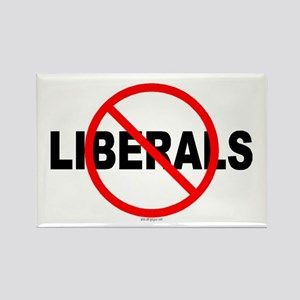 No Liberals Rectangle Magnet