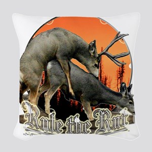 Rule the rut Woven Throw Pillow