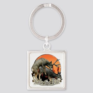 Rule the rut Square Keychain
