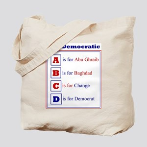 Democratic Alphabet Tote Bag