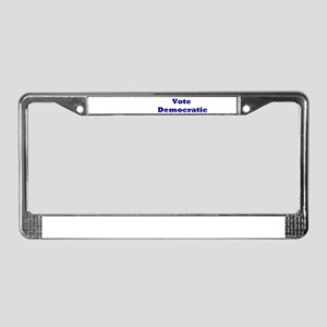 Democratic Alphabet License Plate Frame
