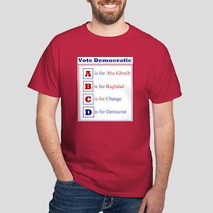 Democratic Alphabet Dark T-Shirt