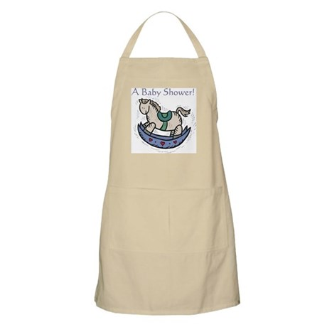 Baby Shower Rocking Horse BBQ Apron