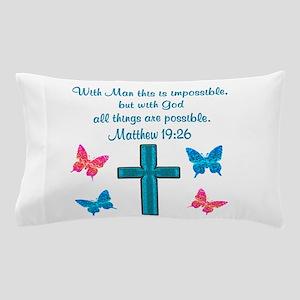 MATTHEW 19:26 Pillow Case