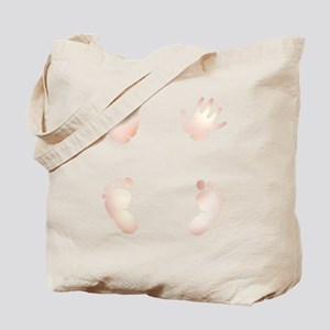 Baby Hand and Foot Prints Maternity Tote Bag