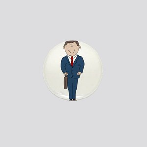 Businessman Mini Button