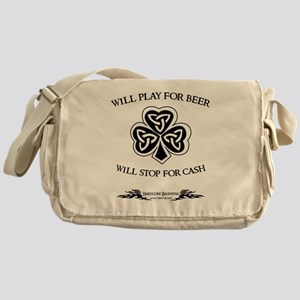 Will Play For Beer.  Will Stop For C Messenger Bag