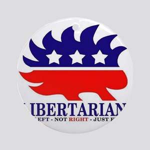 Libertarian Porcupine Round Ornament