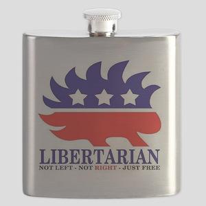 Libertarian Porcupine Flask