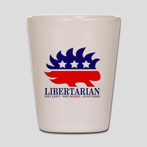 Libertarian Porcupine Shot Glass