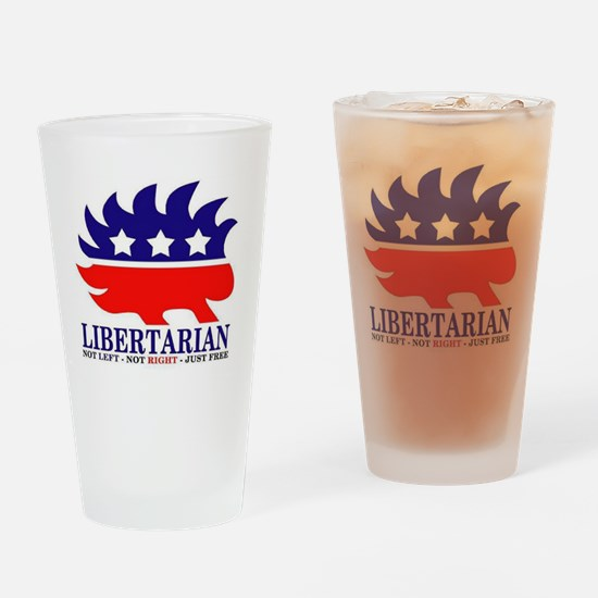 Libertarian Porcupine Drinking Glass