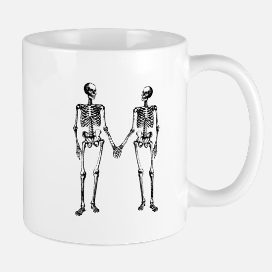 Skeletons Holding Hands Mug