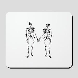 Skeletons Holding Hands Mousepad