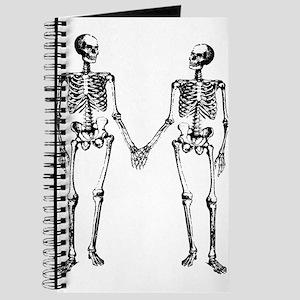 Skeletons Holding Hands Journal
