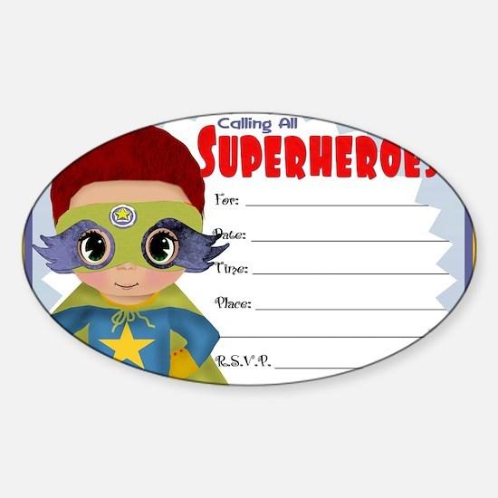 Super Hero Boy Sticker (Oval)