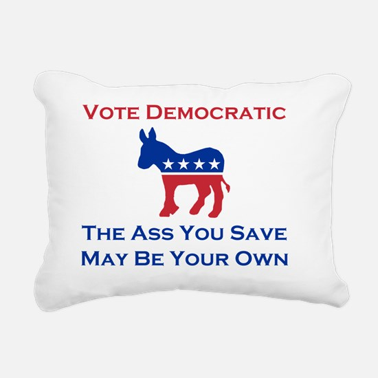 Vote Democratic Rectangular Canvas Pillow