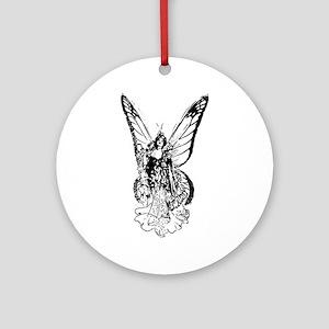 Fantasy Fairy Ornament (Round)