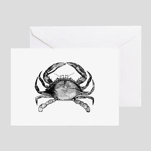 Vintage Crab Greeting Card
